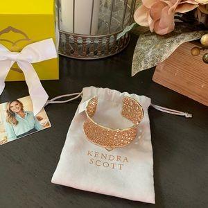 Candice Gold cuff bracelet in Rose Gold